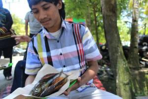 ikan panggang yang fresh dari panggangan